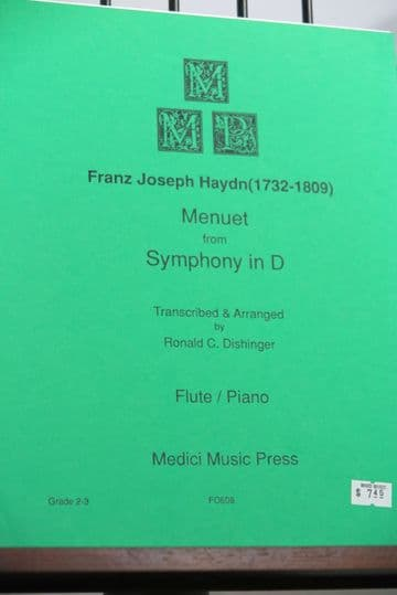 Haydn J - Menuett from Symphony in D for Flute & Piano arr Dishinger R C